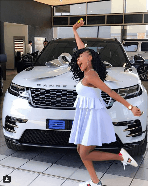 South African women celebs driving Range Rovers